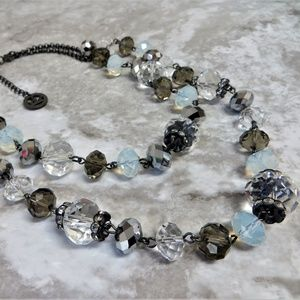 Jewelry - Crystal Glass Beaded statement Necklace
